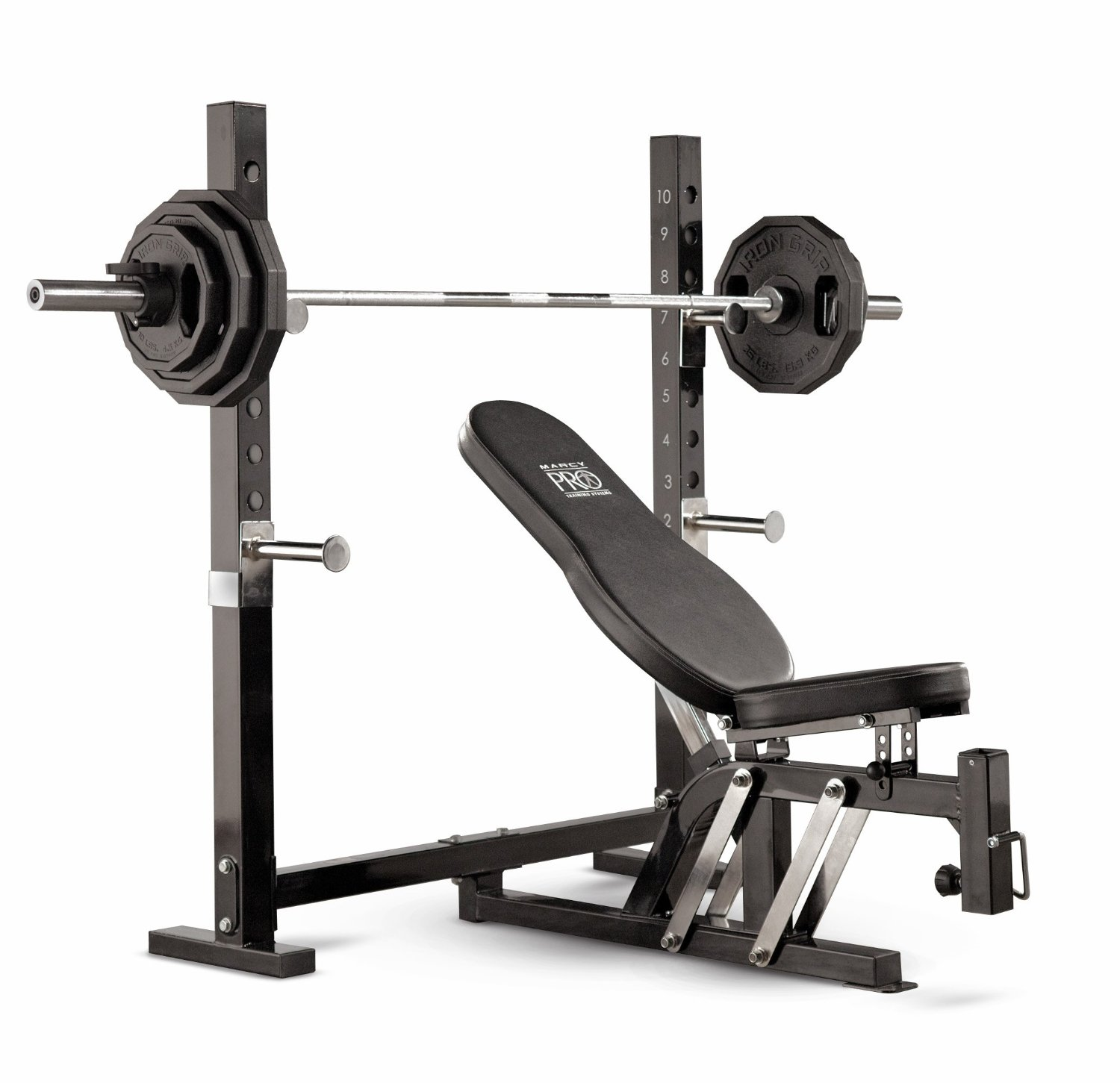 Free Weights On Bench: Marcy Pro Olympic Bench Review