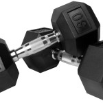 Xmark Rubber Hex Dumbbells